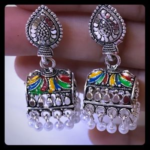 Jewelry - Gorgeous Bollywood Mina design Dangle earr…